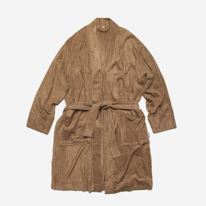 [ 시즌 오프 30% 할인 ] Bamboo yarn long robe cardigan_ camel_카멜