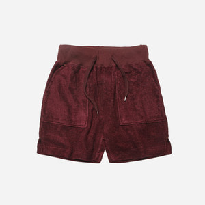[ 시즌 오프 30% 할인 ] Bamboo yarn half pants_ burgundy_버건디