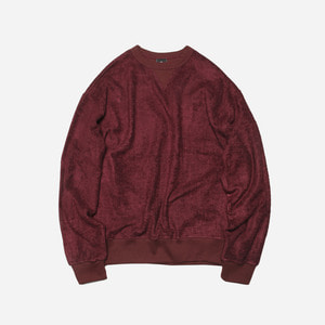 [ 시즌 오프 30% 할인 ] Bamboo yarn sweatshirt_ burgundy_버건디